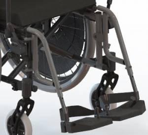 Apoios de pés rebatíveis e ajustáveis em altura